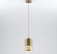 Подвесной светильник с металлическим плафоном 50071/1 античная бронза