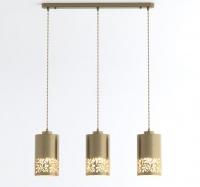 Подвесной светильник с металлическими плафонами  50071/3 античная бронза