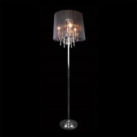 2045/3F / напольный светильник хром/черный