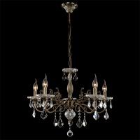 3281/5 / подвесной светильник античная бронза/прозрачный хрусталь Strotskis
