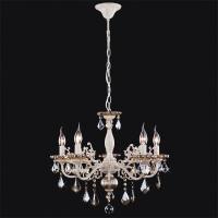3281/5 / подвесной светильник белый с золотом/тонированный хрусталь Strotskis