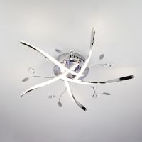 Светодиодная потолочная люстра с подсветкой и пультом 90126/5 хром