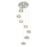 Люстра Геометрия 2-1694-7-CR Y LED