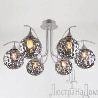 Потолочная люстра со стеклянными плафонами Артикул: 70102/6 серебро