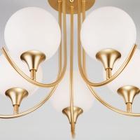 Потолочный светильник со стеклянными плафонами Артикул: 70101/5 золото