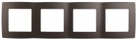 12-5004-13 Рамка ЭРА12, на 4 поста, бронза