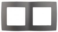 12-5002-12 Рамка ЭРА12, на 2 поста, графит