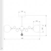 Потолочная люстра со стеклянными плафонами 70095/5 сатин-никель