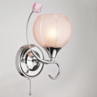 3457/1 / настенный светильник хром/розовый