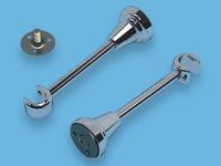 Кронштейн 1-ый открытый для металлического карниза (Хром)