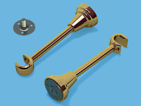 Кронштейн 1-ый открытый для металлического карниза (Глянцевое золото)