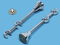 Кронштейн 2-ой открытый для металлического карниза (Хром)