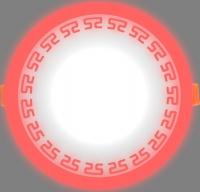 Светодиодный светильник LPL 6+3 красный с орнаментом, 4000К