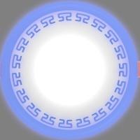 Светодиодный светильник LPL 6+3 синий с орнаментом, 4000К