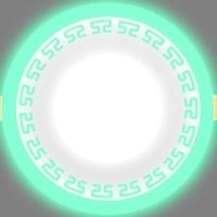 Светодиодный светильник LPL 6+3 зеленый с орнаментом, 4000К
