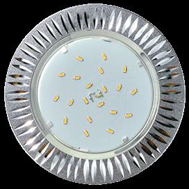 Светильник GX 53 CAST Реснички Серебро