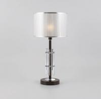 Настольная лампа с серебряным абажуром  01063/1 хром