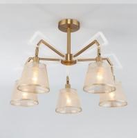 Потолочная люстра с поворотными рожками  60082/5 золотая бронза