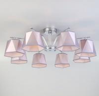 Потолочная люстра с серебряными абажурами   60076/8 хром