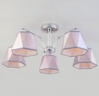 Потолочная люстра с серебряными абажурами  60076/5 хром