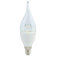 "Лампа Е14 ""Свеча на ветру"" 7 Вт (прозрачная) 2700К"