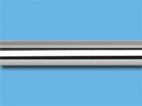 Труба металлическая гладкая 1,6 м (Хром)