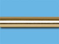 Труба металлическая гладкая 2,4 м (Глянцевое золото)