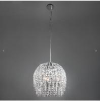 Подвесной светильник с хрусталем 10091/3 хром/прозрачный хрусталь Strotskis