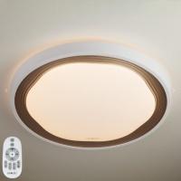 Накладной круглый светильник с пультом 40006/1 LED кофе